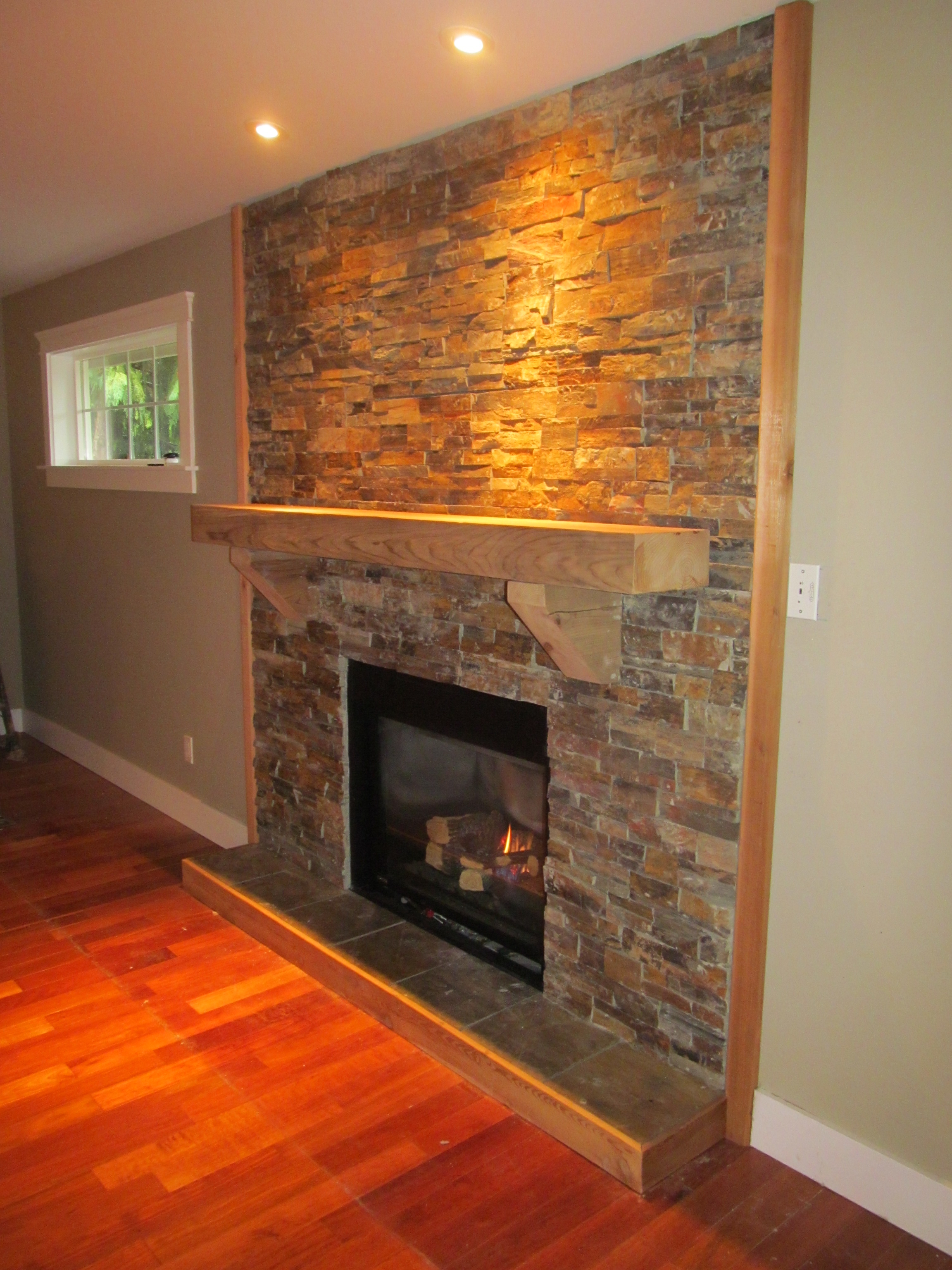 Cultured Stone Fire Place