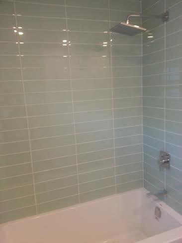 Glass Tile Shower With Riobel Faucets